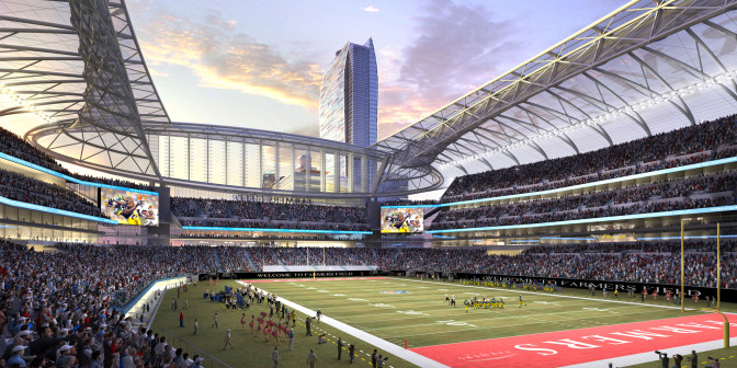 The latest in a long line of L.A. football stadium concepts.